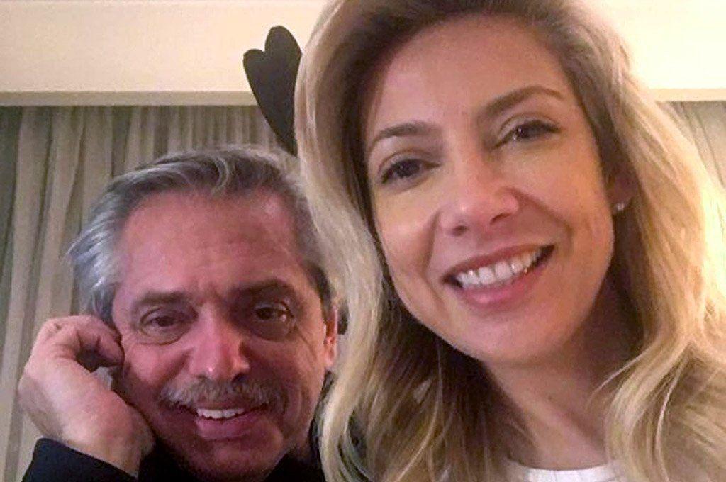 Alberto Fernández y su pareja Fabiola Yañez. Archivo.
