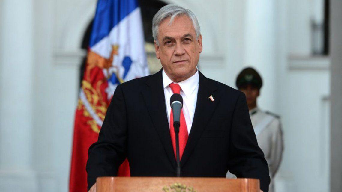 """El presidente Sebastián Piñera aseguró que su país """"lo que está haciendo es ejercer su derecho y declarar su plataforma continental""""."""