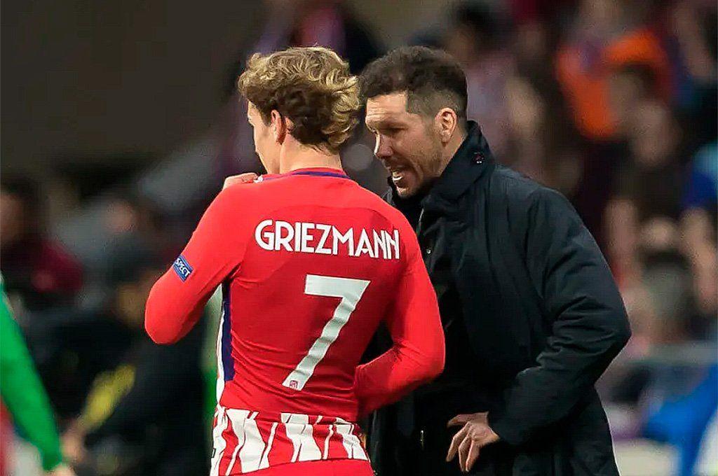 La bomba de último momento fue el regreso de Antoine Griezmann al Atlético de Madrid del Cholo Simeone. Archivo.