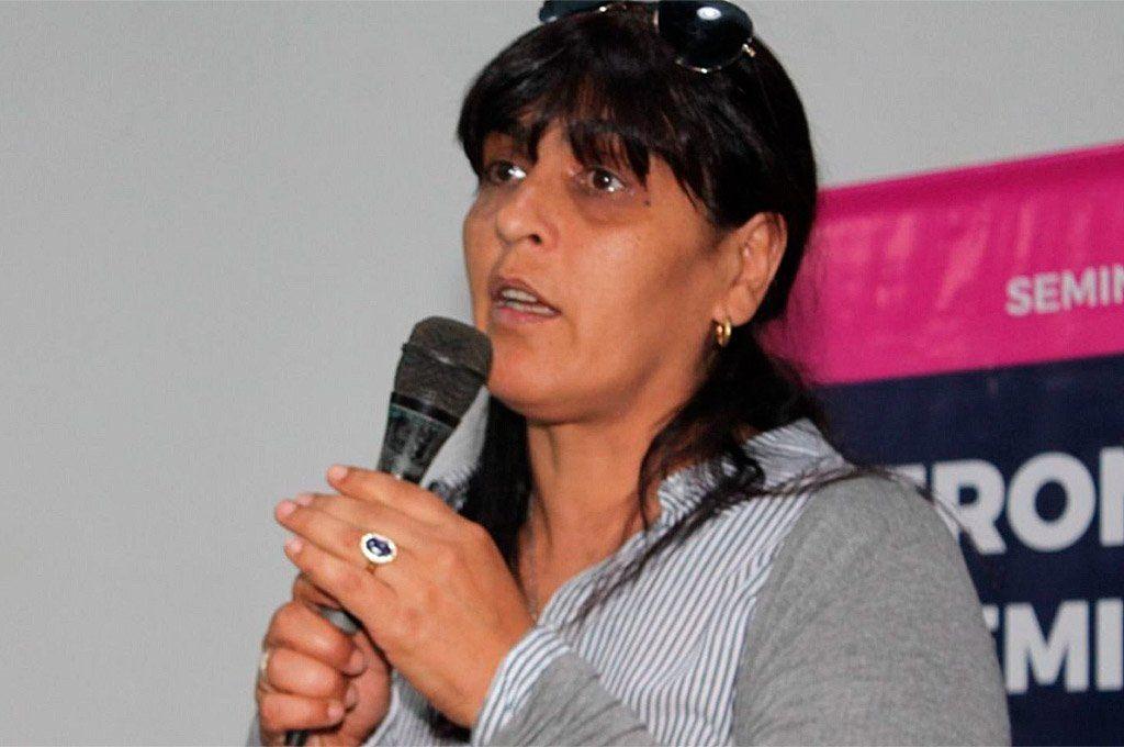 Karina Moyano se desempeña como secretaria de Género del Sindicato de Camioneros. Archivo.