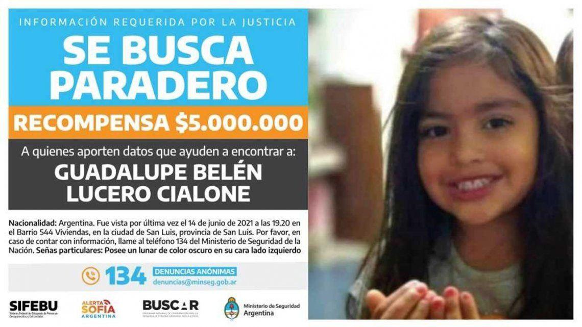 Guadalupe: elevaron la recompensa por datos sobre su paradero.