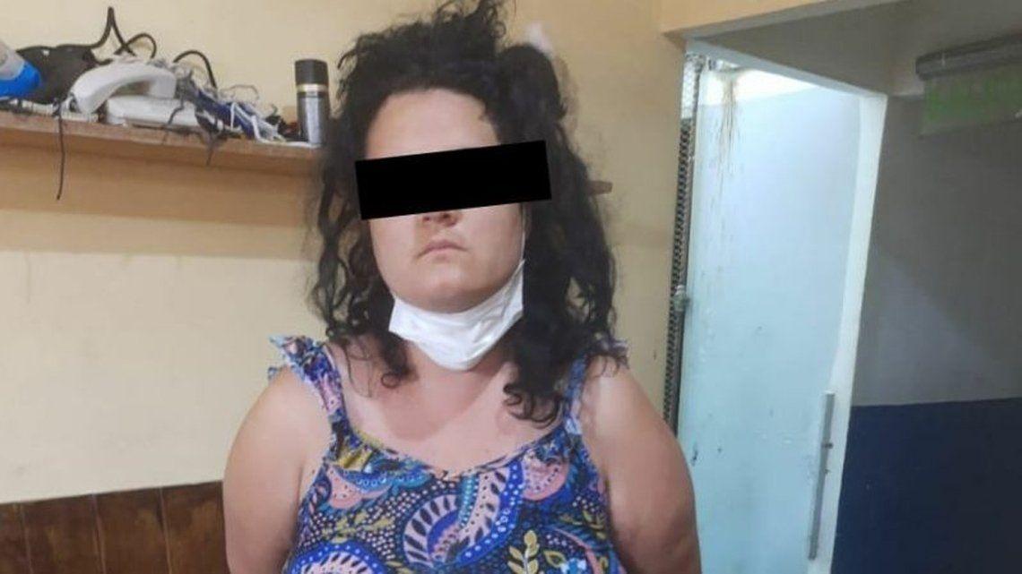 La mujer detenida.
