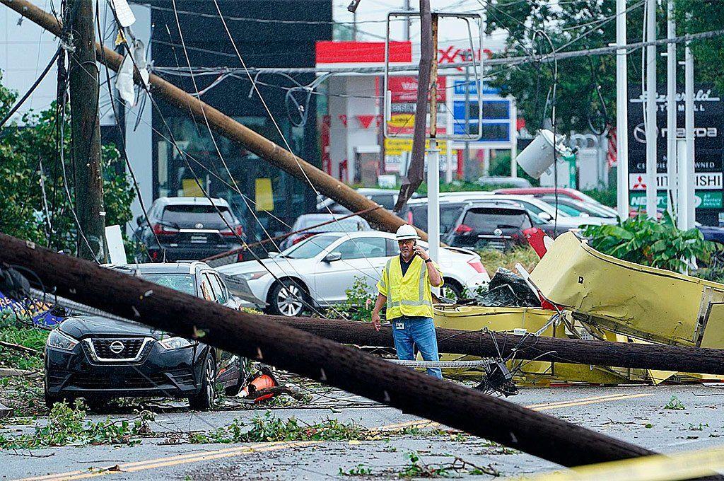 En Maryland el paso del Huracán Ida ocasionó destrozos varios.