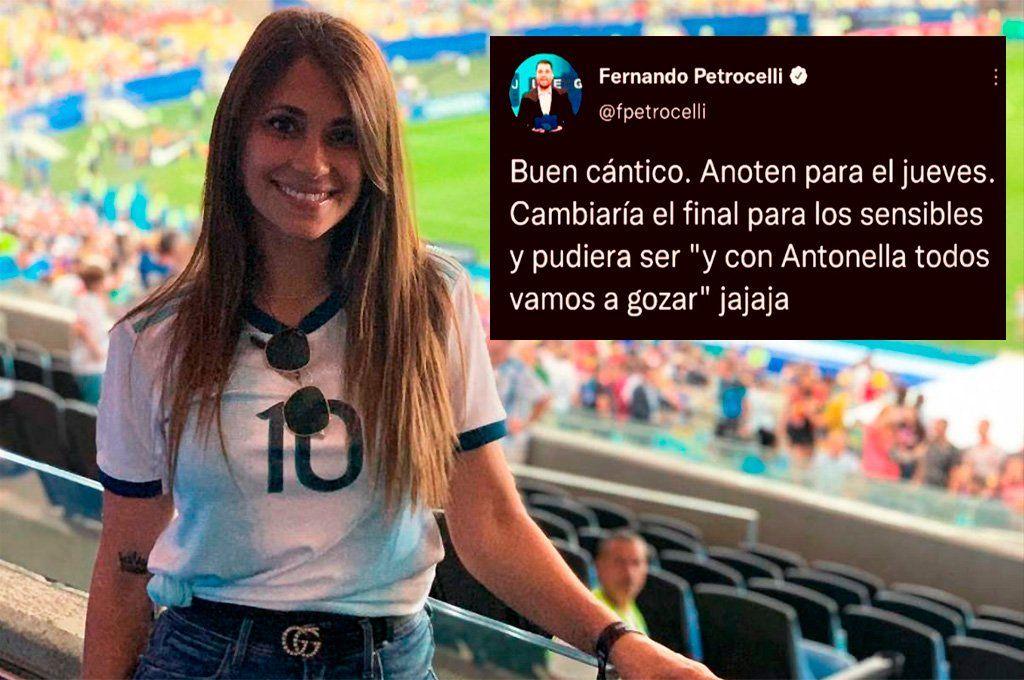 El tweet ofensivo del periodista venezolano en contra de Antonela Roccuzzo