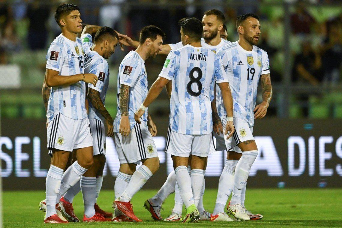 Las mejores fotos del triunfo de Argentina sobre Venezuela
