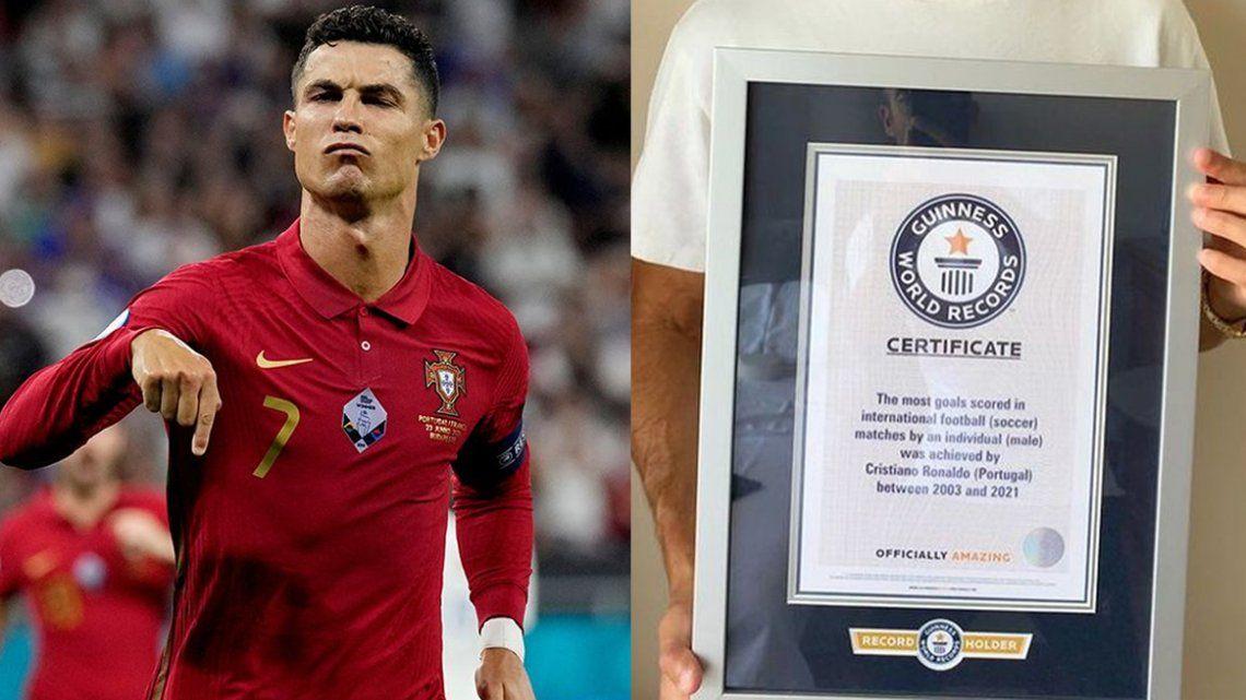 Cristiano Ronaldo fue reconocido con el récord Guinness
