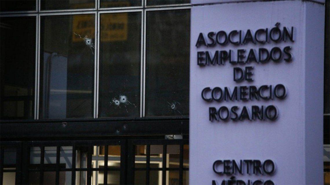 Rosario: brutal balacera en la sede del sindicato Empleados de Comercio.(Alan Monzón/Rosario3)
