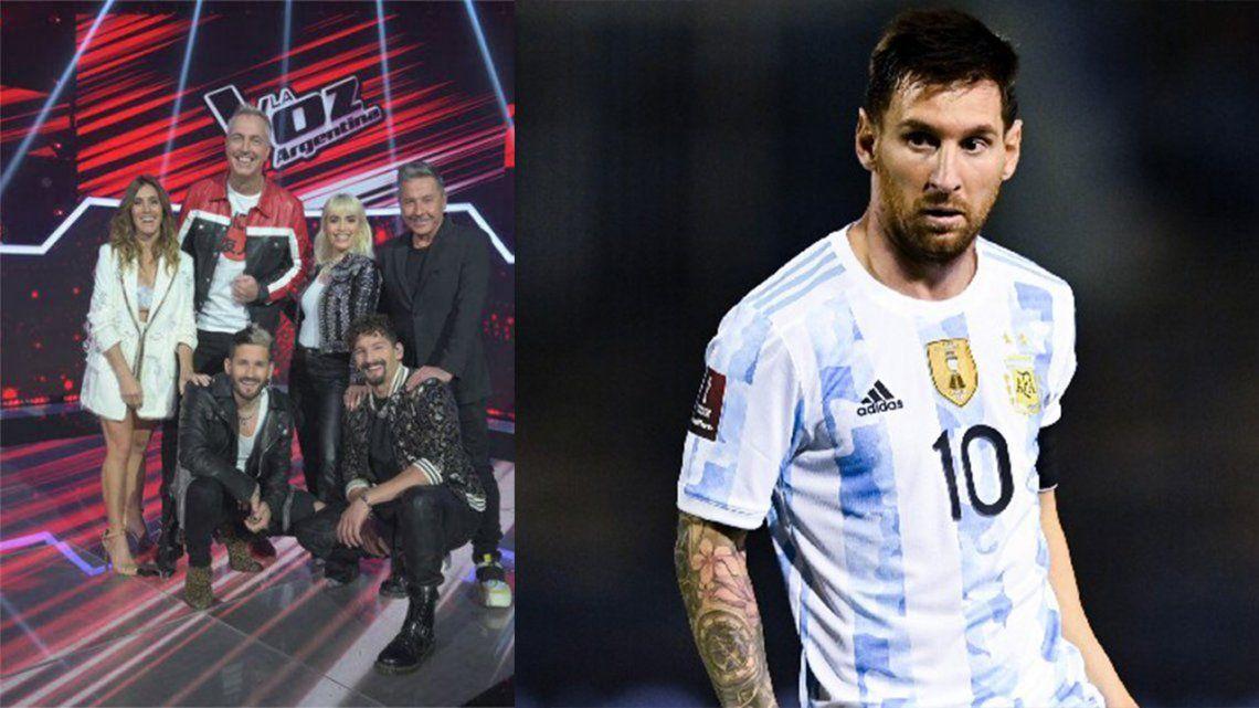 Rating: el partido de Argentina no opaco a La Voz Argentina.