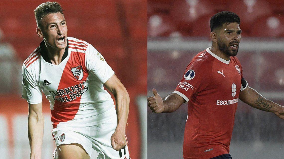 River e Independiente jugarán mañana el clásico de la fecha.