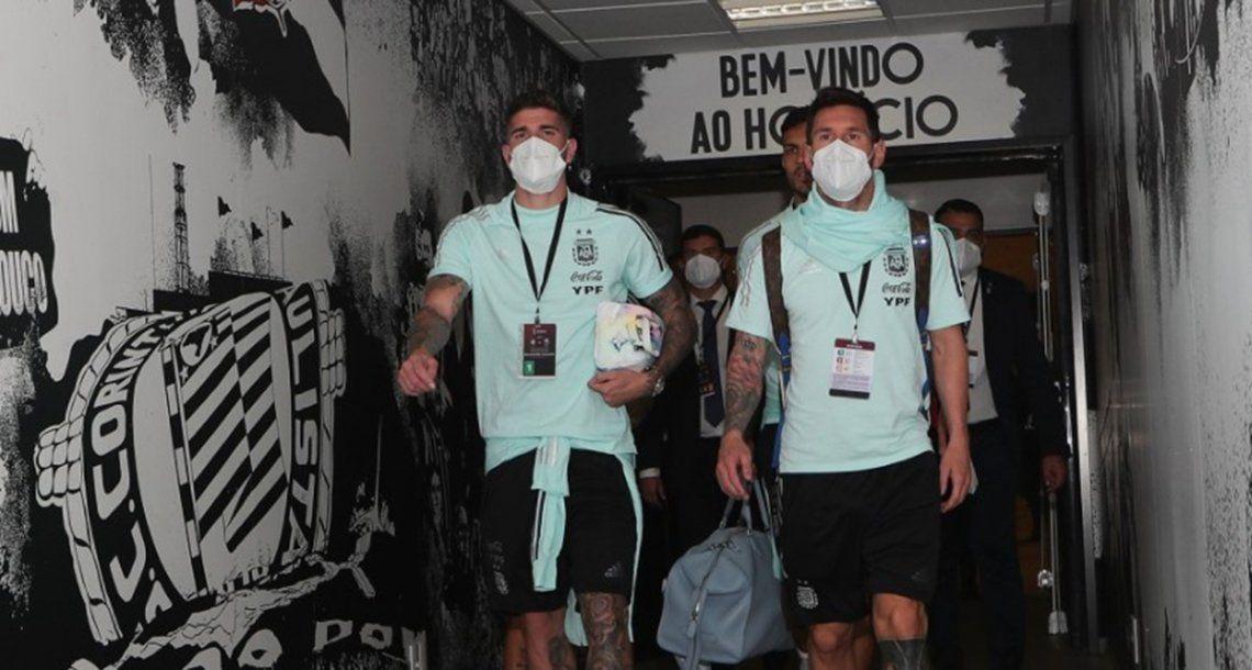 La selección arribó este mediodía al estadioArena Corinthians de San Pablo.