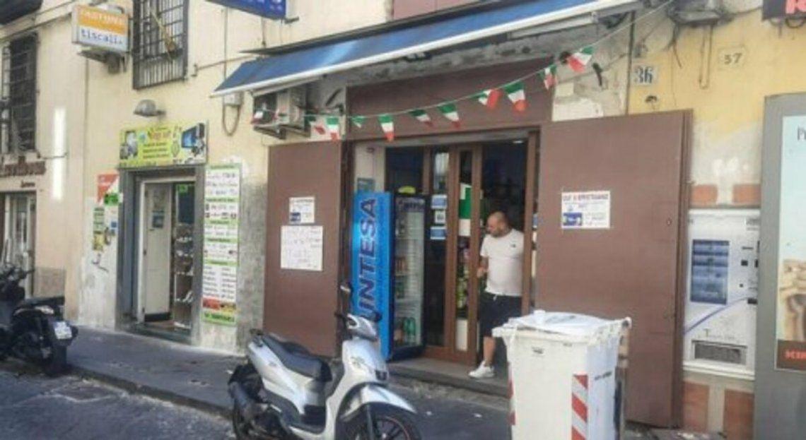 La casa de lotería de Nápoles.