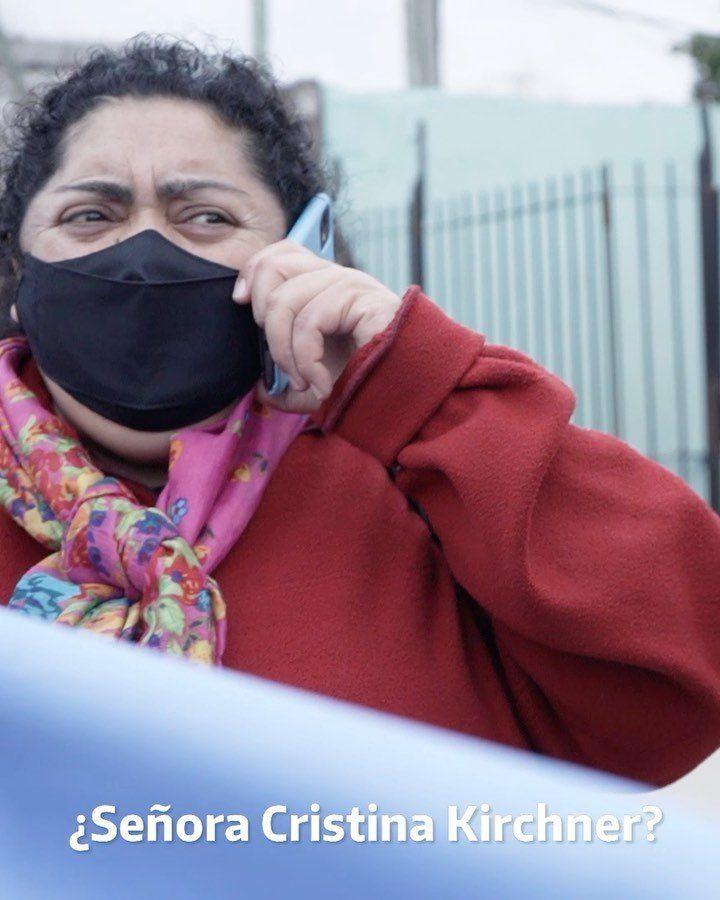 Vecina de Quilmes habló por teléfono con Cristina