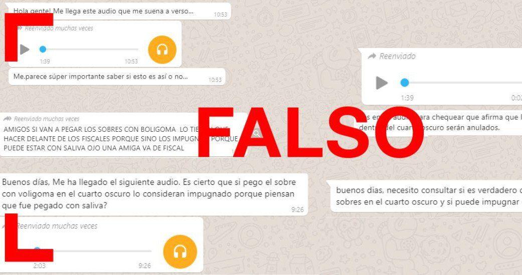 Circulan muchas falsedades sobre las PASO del domingo.