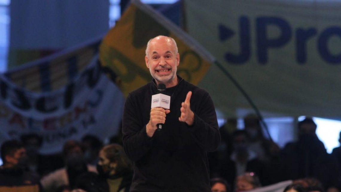 El jefe de gobierno porteño encabezó el acto en el predio de La Rural.