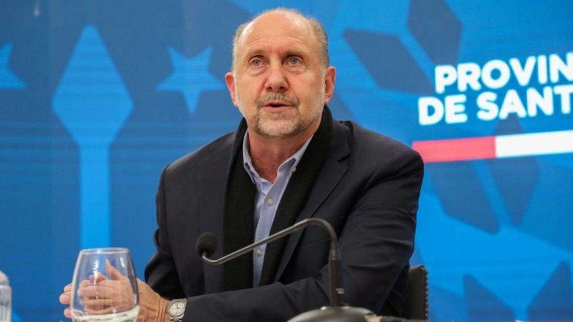 """Perotti valoró el """"compromiso"""" en las expresiones que tuvo Fernández cuando visitó Rosario y lo contrastó con la postura de Frederic."""