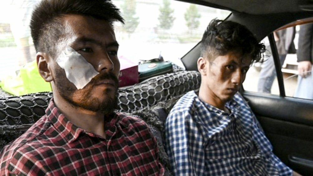 Periodistas golpeados en Kabul.