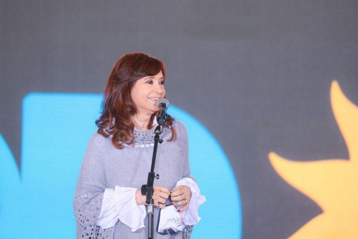 Cristina Kirchner habló en el acto de cierre de la campaña del Frente de Todos.
