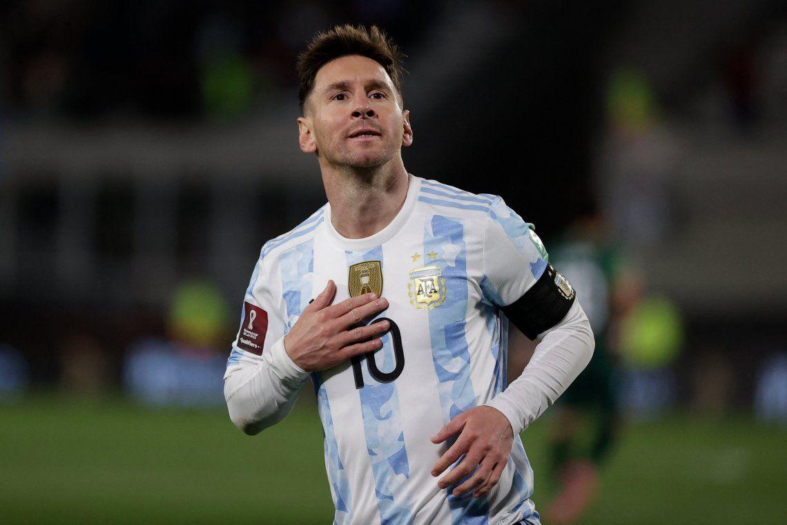Con un hat trick de Messi, Argentina goleó a Bolivia