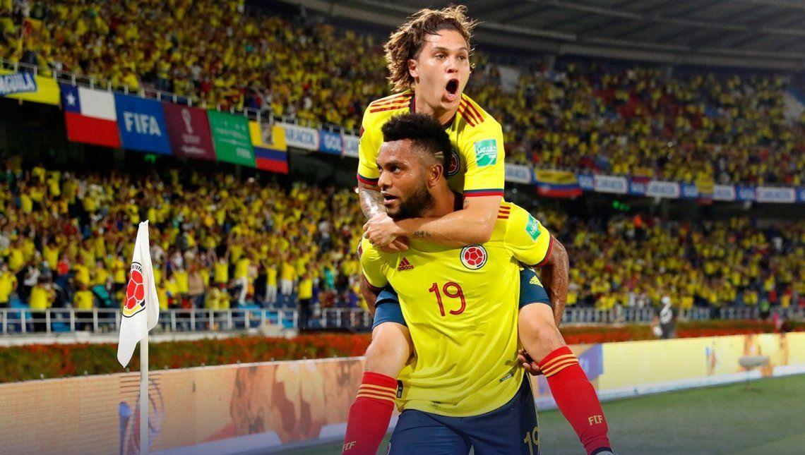 Colombia fetejó frente a Chile