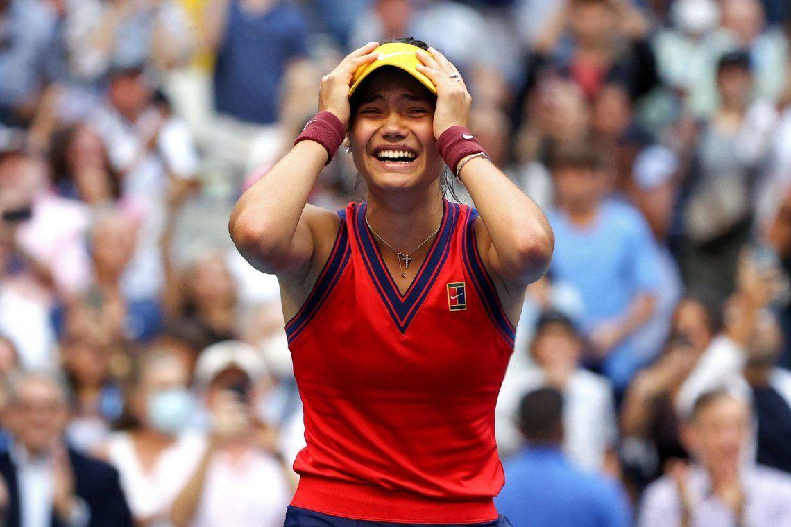 Emma raducanu no lo puede creer. con 18 años ganó el US Open
