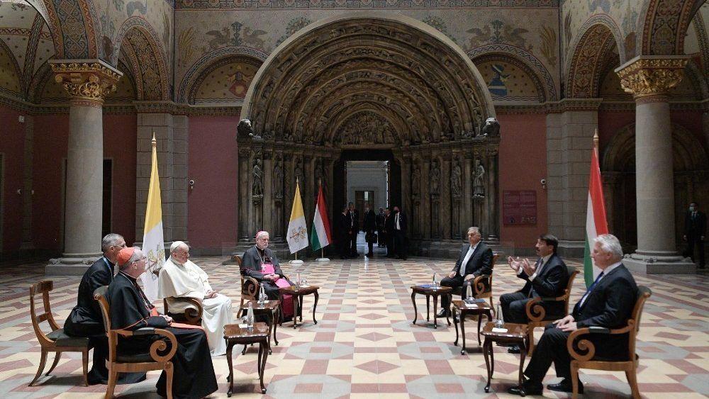El Papa Francisco en Budapest