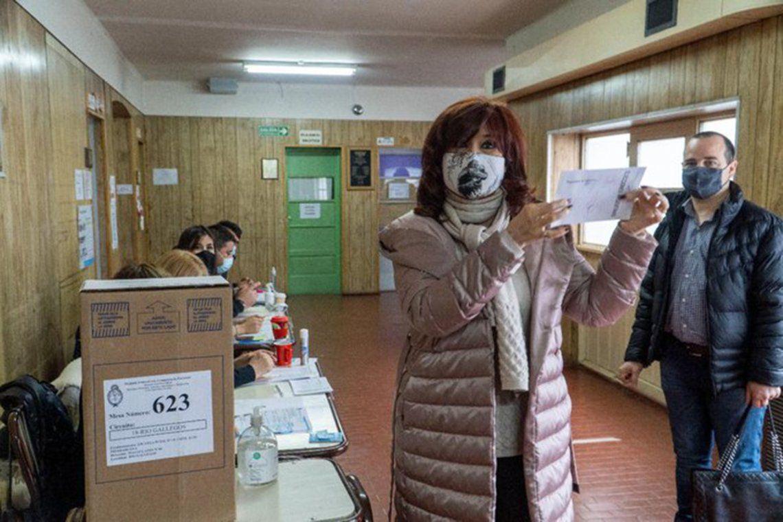 Cristina Kirchner votó en Río Gallegos