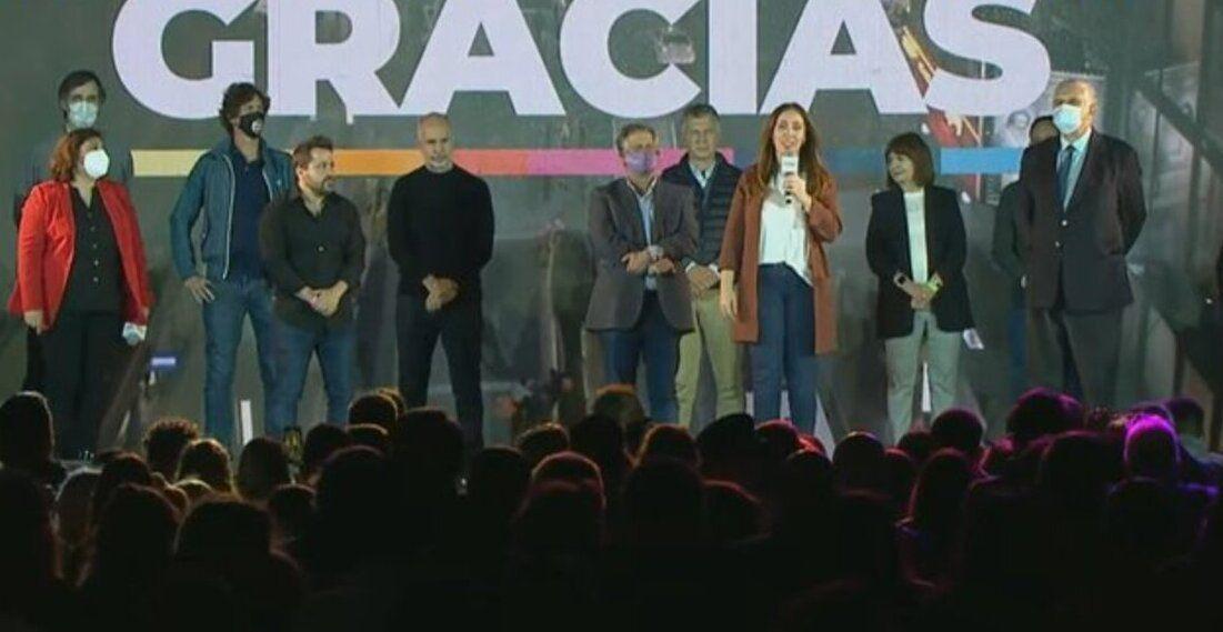 María Eugenia Vidal desde la Sede de Juntos en Costa Salguero.