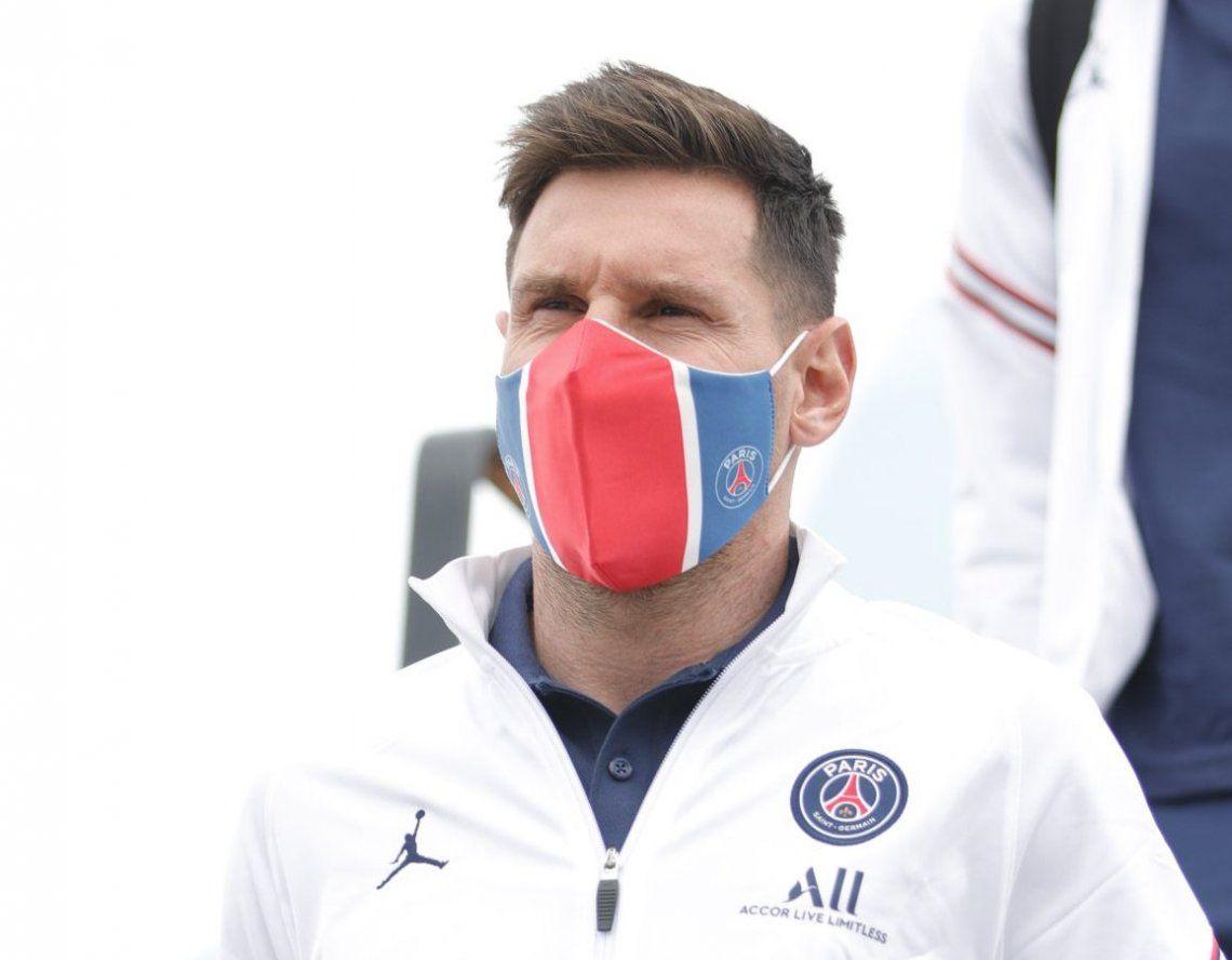 Messi y el PSG ya están en Bélgica para el debut en la Champions