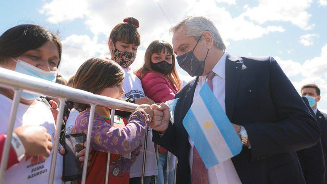 Alberto Fernández aseguró que la pandemia no frenó al Gobierno en su desarrollo de obras públicas.
