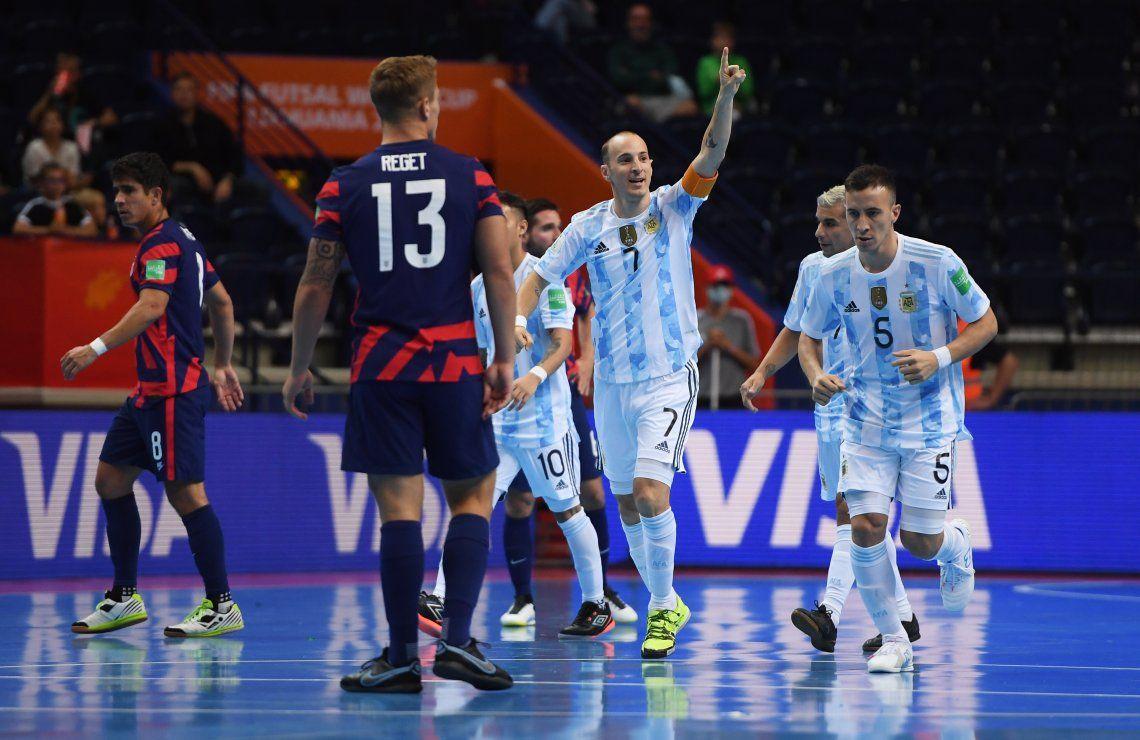 Argentina goleó a Estados Unidos en el Mundial de futsal