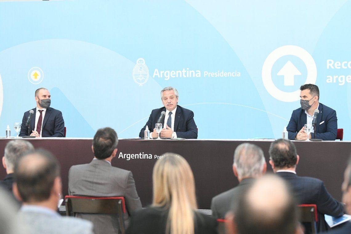 El Presidente junto a Guzmán.