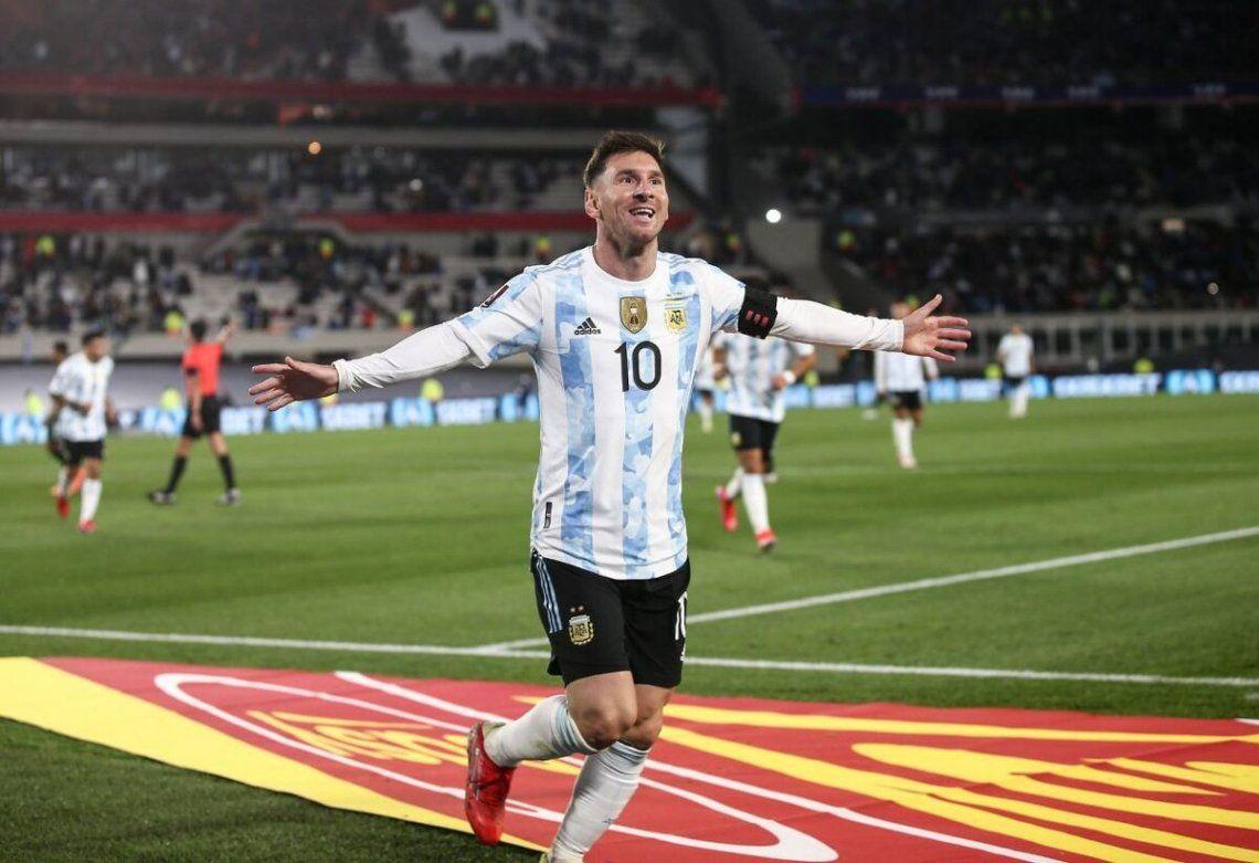 Lionel Messi en el último partido de la selección argentina.