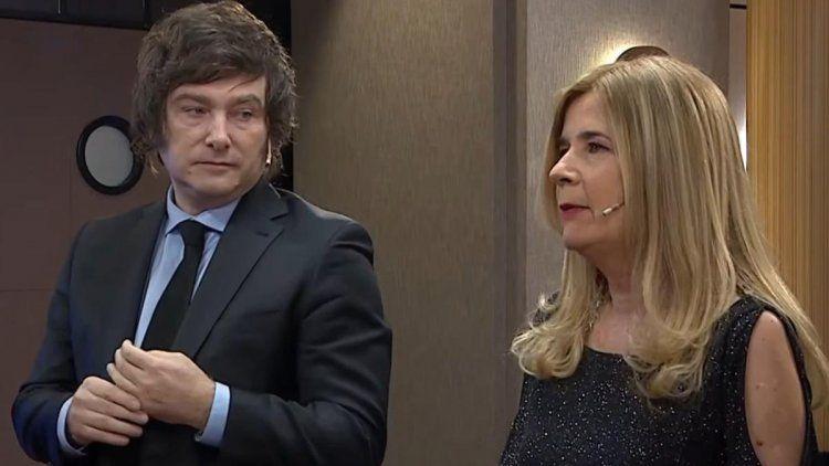 El economista y la periodista se cruzaron en el programa Debo decir, que conduce de Luis Novaresio por América TV.