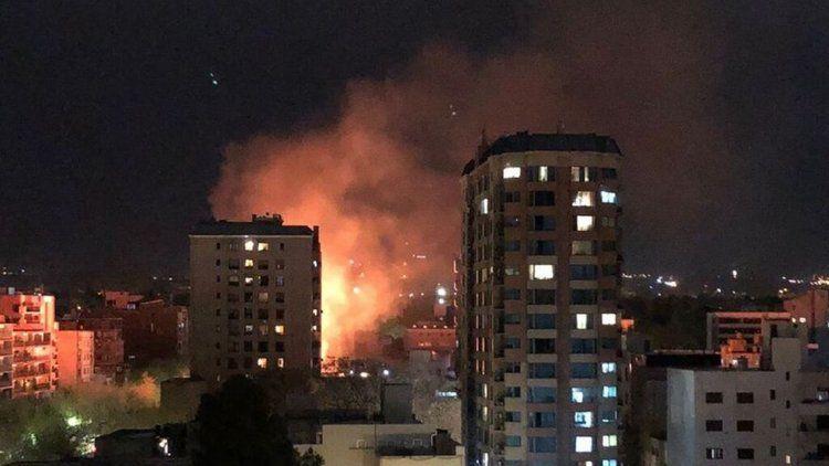 Incendio en pleno centro de Mendoza.