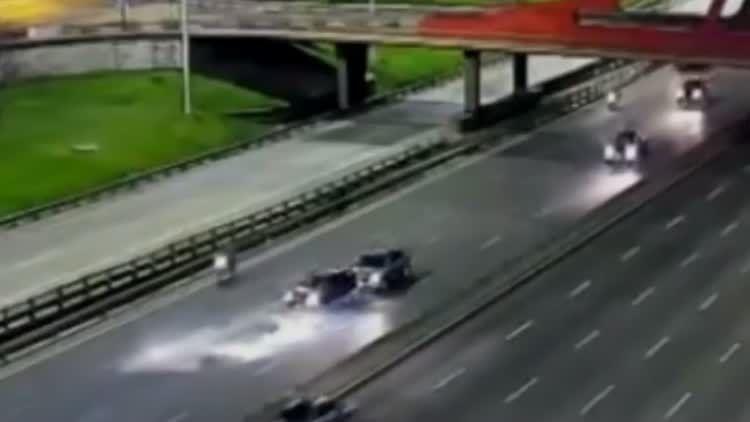 Mirá el video del triple choque que dejó un muerto en General Paz