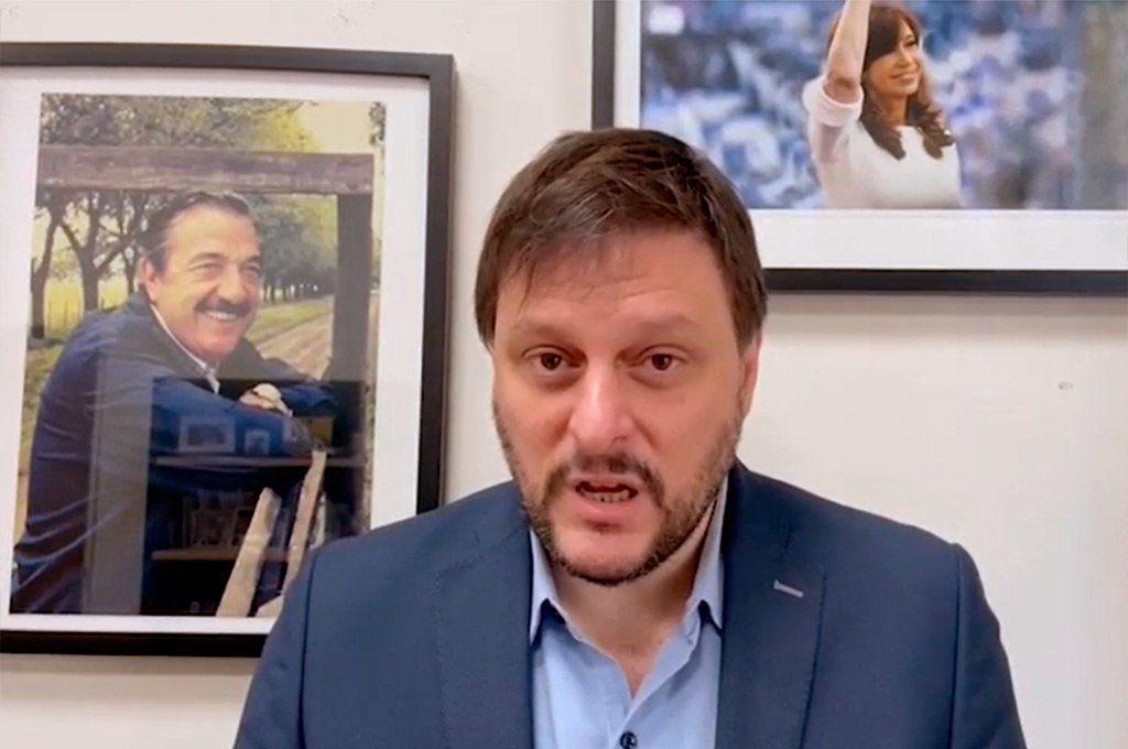 Leandro Santoro dijo que no sabe qué quiso decir Aníbal Fernández son sus expresiones en Twitter. Archivo.