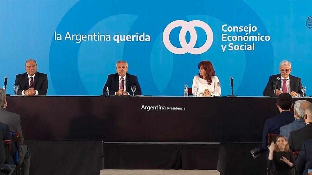 Fernández y Cristina, en Casa Rosada.