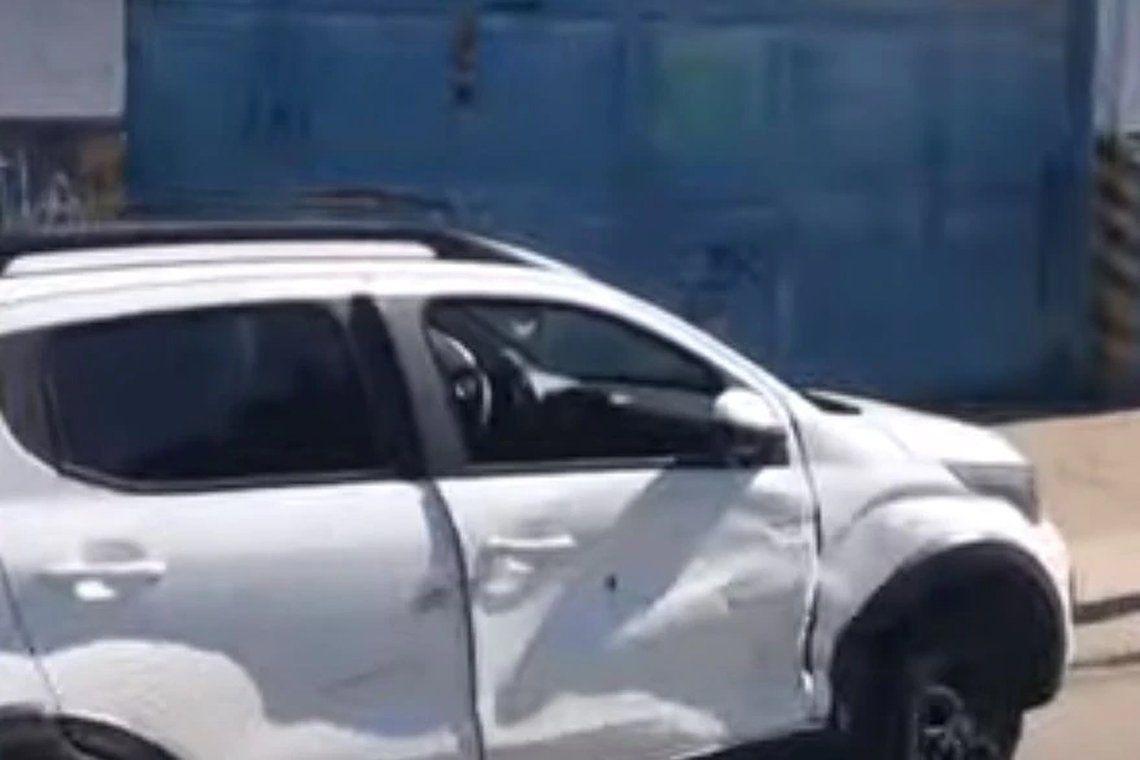 El auto usado por los delincuentes.
