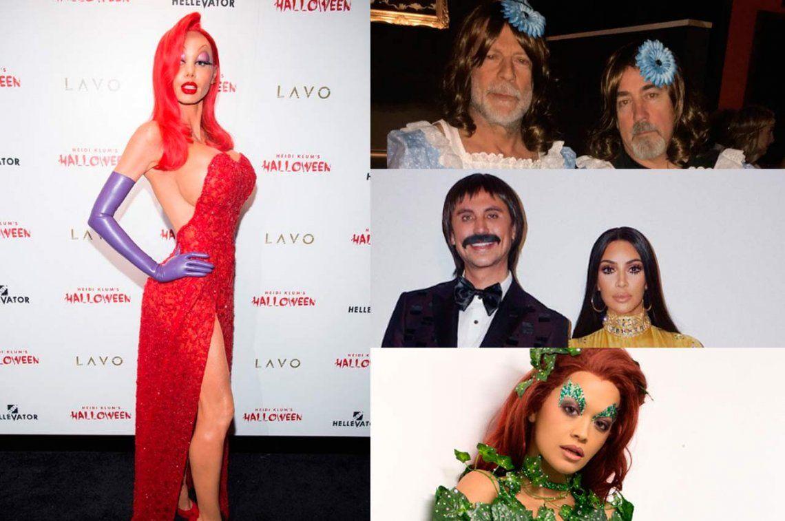 Los famosos de Hollywood celebran Halloween a lo grande