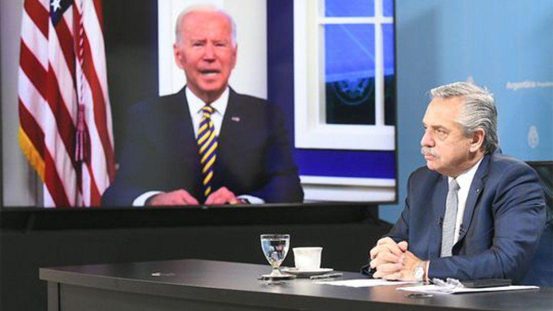 Alberto Fernández participa de un foro sobre cambio climático invitado por Joe Biden.