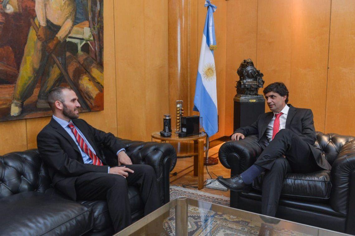 Martín Guzmán y Hernán Lacunza se reunieron en el Palacio de Hacienda