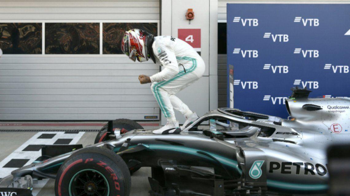 Hamilton marcó un nuevo récord tras ganar el GP de Rusia