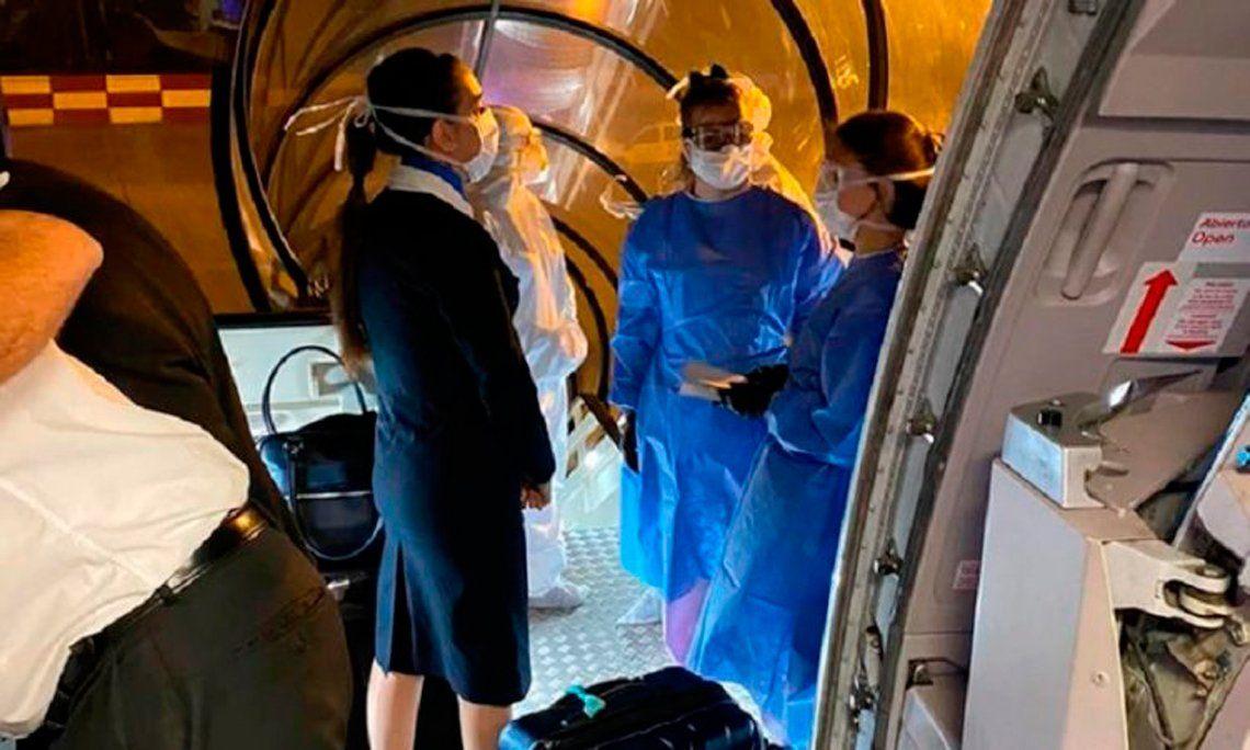 Coronavirus: protocolo de seguridad en Ezeiza por un vuelo de Miami
