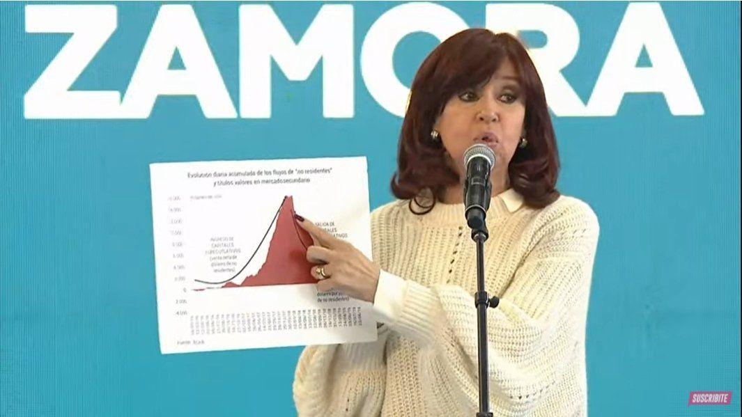 Cristina Fernández participó del lanzamiento del plan Qunita.