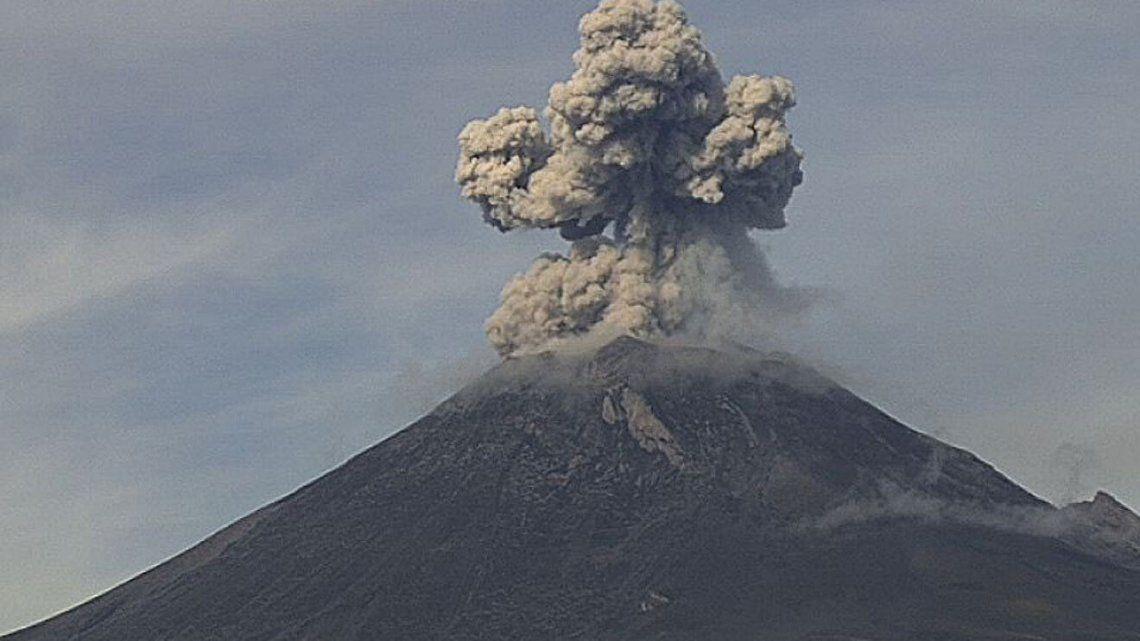 Volcán en actividad.
