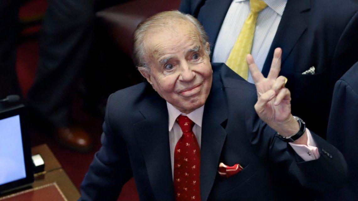 Carlos Menem es velado en el Senado de la Nación
