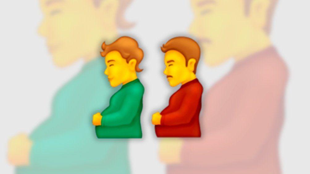 Lanzan dos nuevos emojis inclusivos persona embarazada y hombre embarazado.