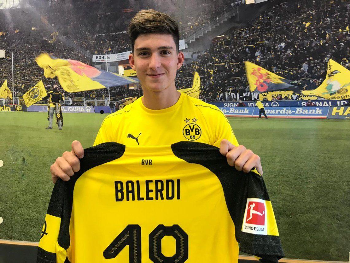 Balerdi se entrenó en el Borussia Dortmund