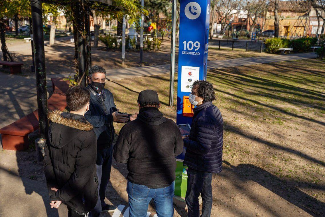 Vicente López suma 15 nuevos Puntos Seguros para emergencias