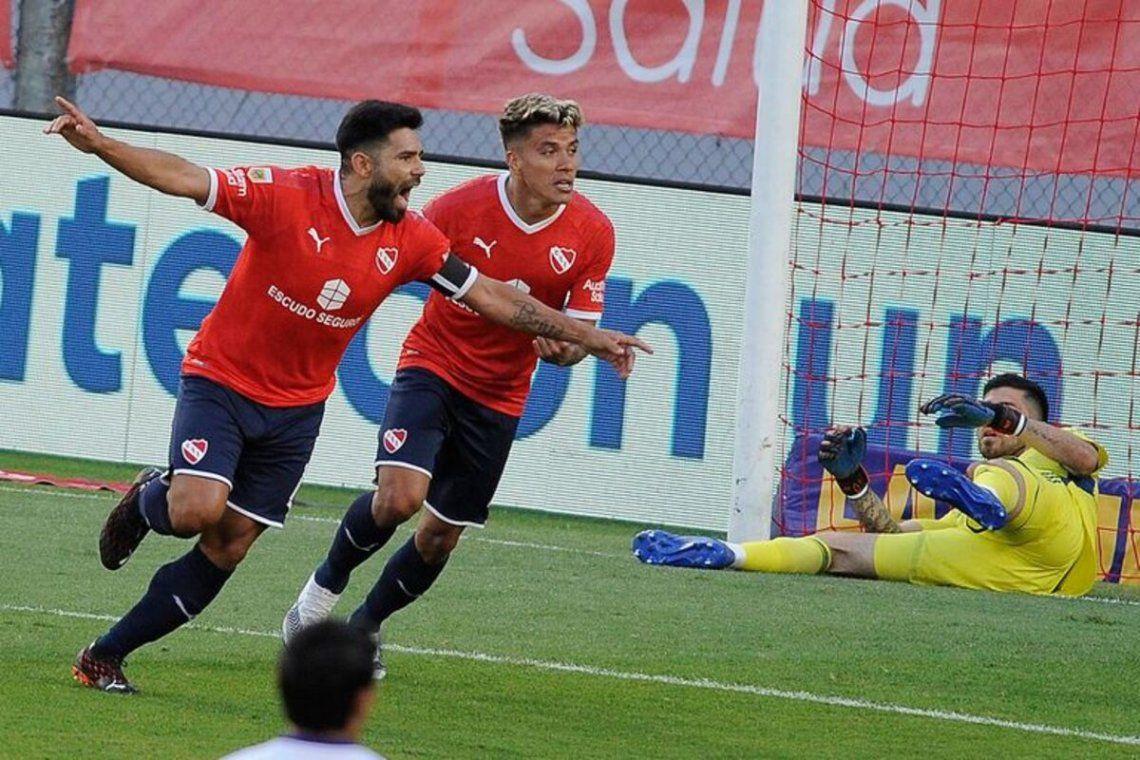 Silvio Romero es el goleador de Independiente con cuatro tantos.